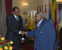 Michel Sidibé and HE Girma Woldegiorgis