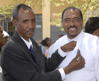 Hailemariam Kiflay and Michel Sidibe