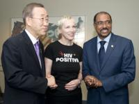 L to R: United Nations Secretary-General Ban Ki-moon