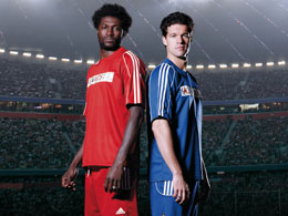 Emmanuel Adebayor and Michael Ballack