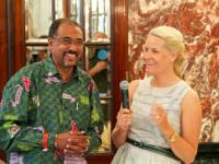 HRH the Crown Princess of Norway and UNAIDS Executive Director Mr Michel Sidibé, Vienna, 17 July 2010
