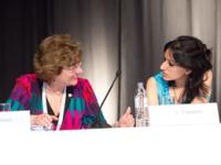 From the left: Mirta Roses; Tripti Tandon at 'Human Rights based approach to HIV Prevention