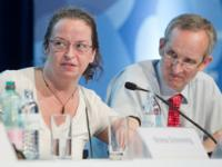 (from left) Ms Ruth Morgan Thomas, Global Coordinator for the Network of Sex Work Projects (NSWP); Dr Bernhard Schwartländer, Director of UNAIDS Department of Evidence, Strategy and Results.