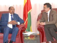 UNAIDS Executive Director Mr Michel Sidibé (left) met with H.E. Dr Tedros Adhanom Ghebreyesus,