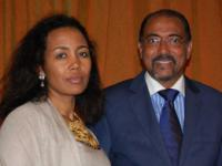 H.E Azeb Mesfin, First Lady of Ethiopia, Chair of OAFLA and Mr Michel Sidibé