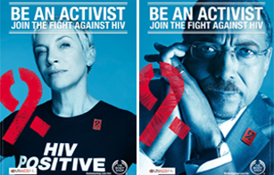 Posters developed for the UNAIDS and The Body Shop Be an Activist campaign. Photos by Rankin.