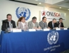 The participants at the launch of the 2008 report on the global AIDS epidemic in Mexico City